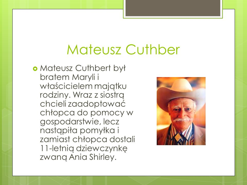 Mateusz Cuthber