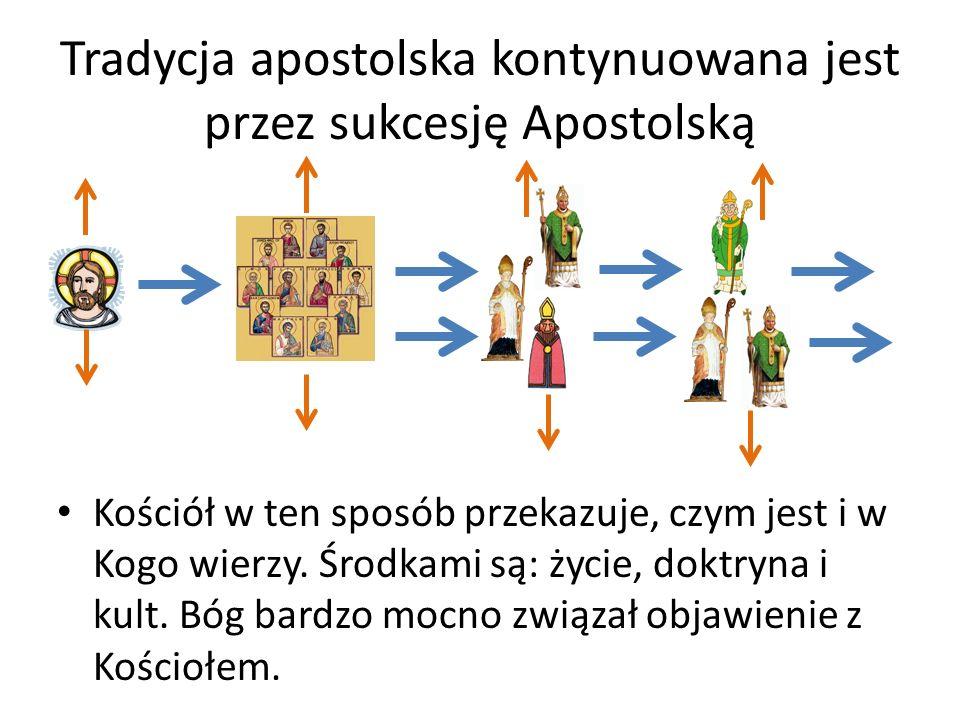 Tradycja apostolska kontynuowana jest przez sukcesję Apostolską