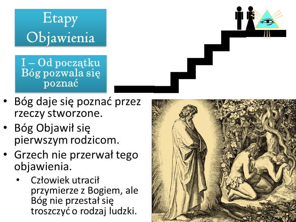 I – Od początku Bóg pozwala się poznać