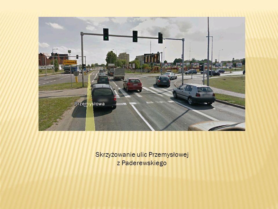Skrzyżowanie ulic Przemysłowej z Paderewskiego