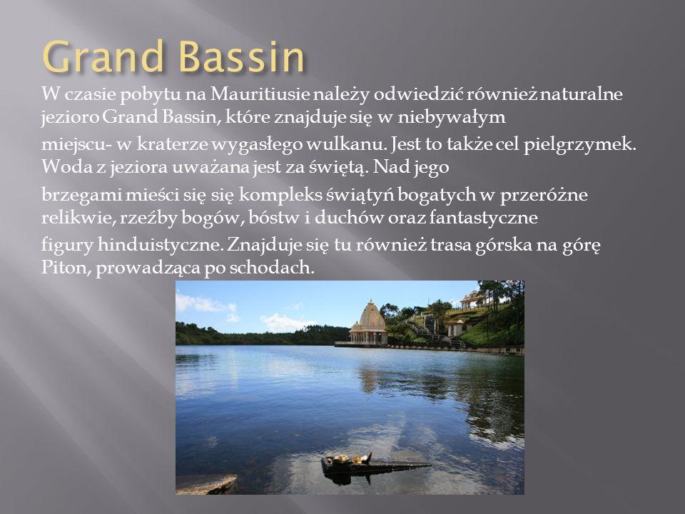 Grand Bassin W czasie pobytu na Mauritiusie należy odwiedzić również naturalne jezioro Grand Bassin, które znajduje się w niebywałym.