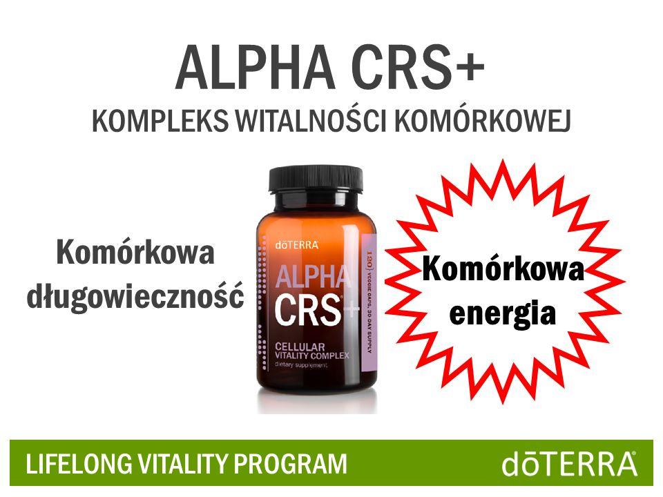 ALPHA CRS+ Komórkowa długowieczność Komórkowa energia