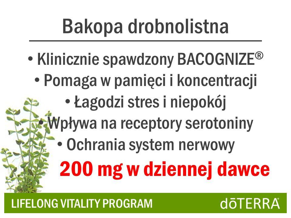 Bakopa drobnolistna 200 mg w dziennej dawce