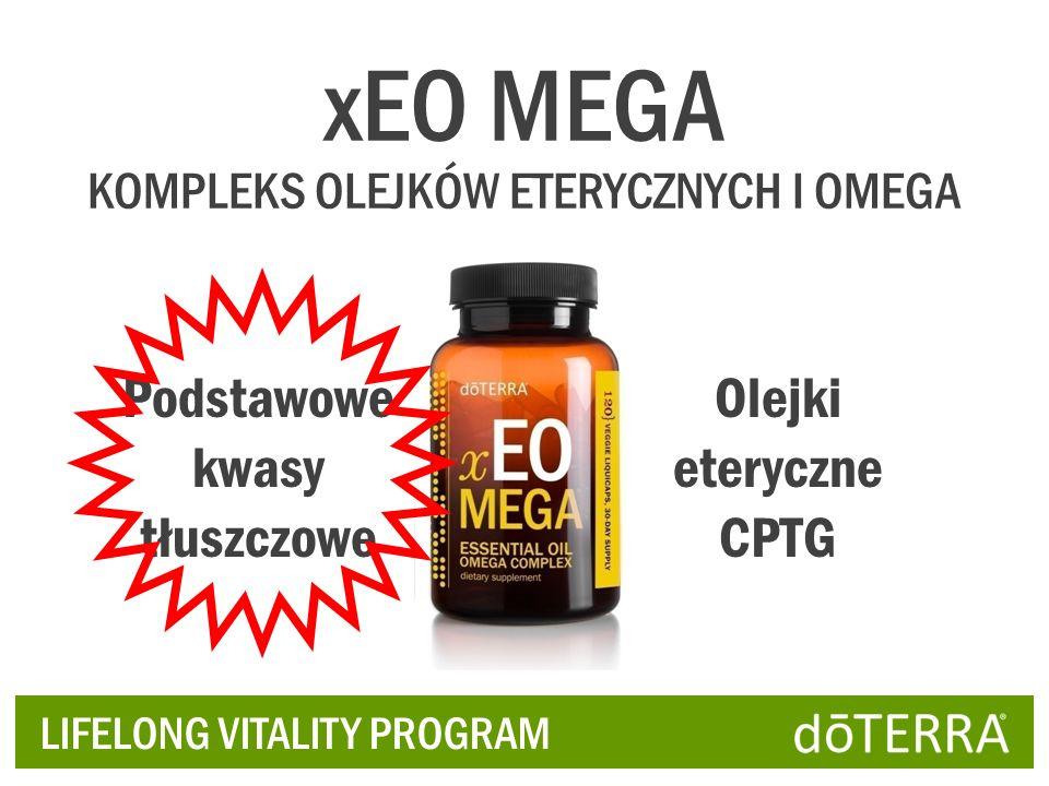 xEO MEGA Podstawowe kwasy tłuszczowe Olejki eteryczne CPTG