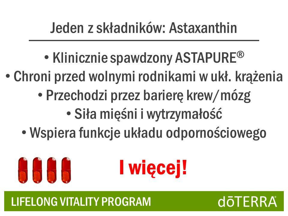 I więcej! Jeden z składników: Astaxanthin