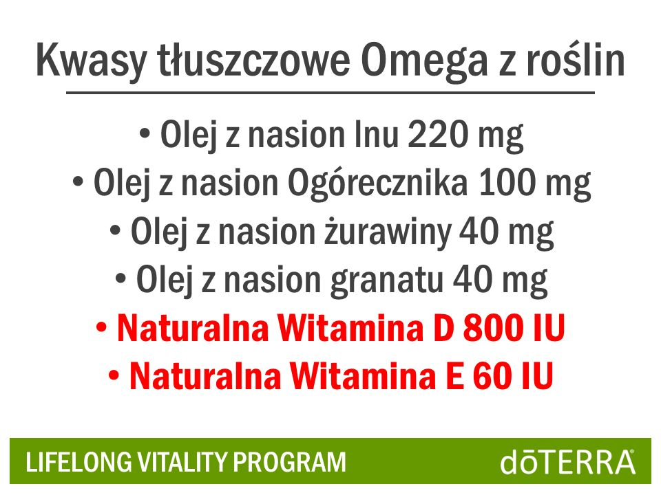 Kwasy tłuszczowe Omega z roślin