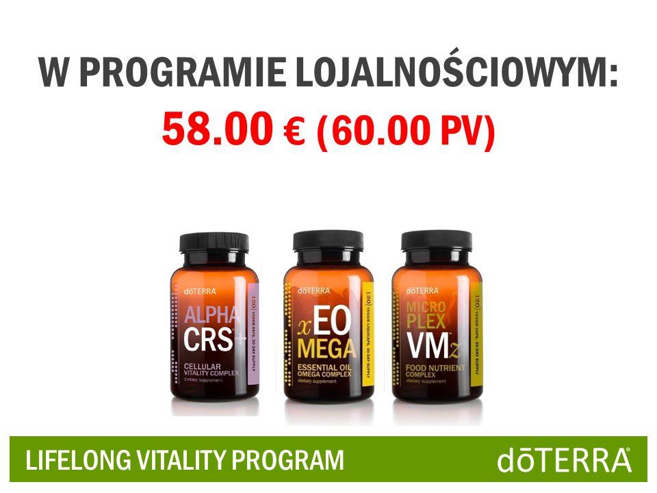W PROGRAMIE LOJALNOŚCIOWYM: 58.00 € (60.00 PV)