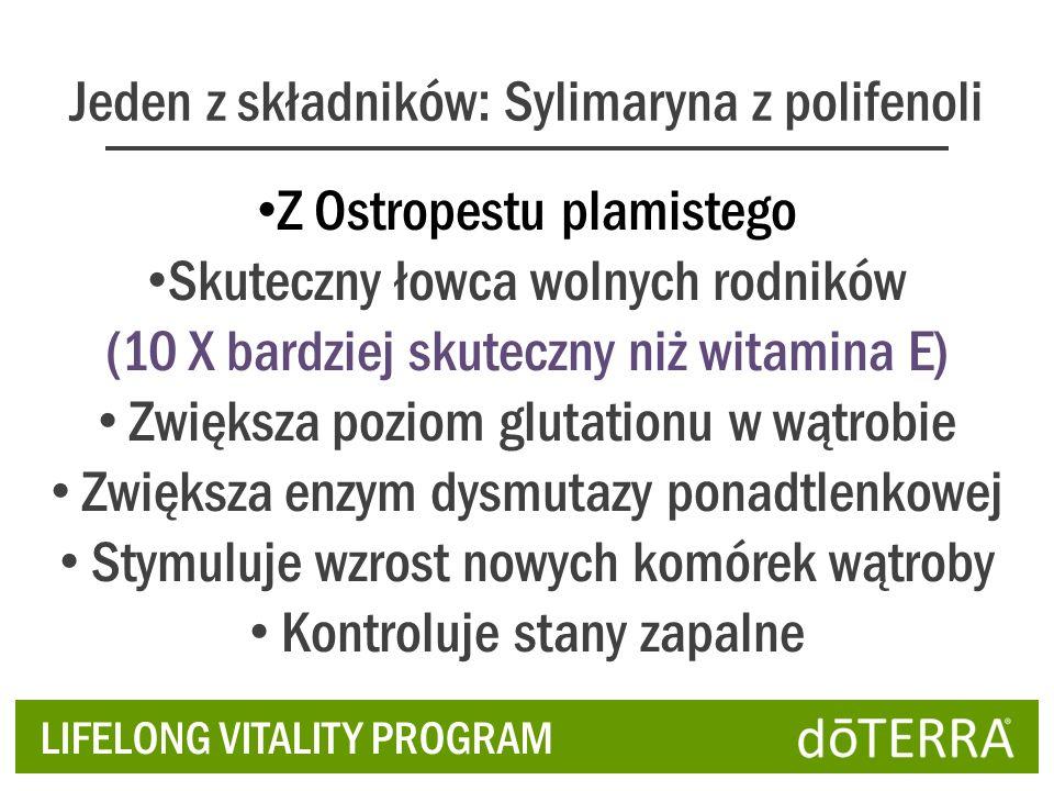 Jeden z składników: Sylimaryna z polifenoli