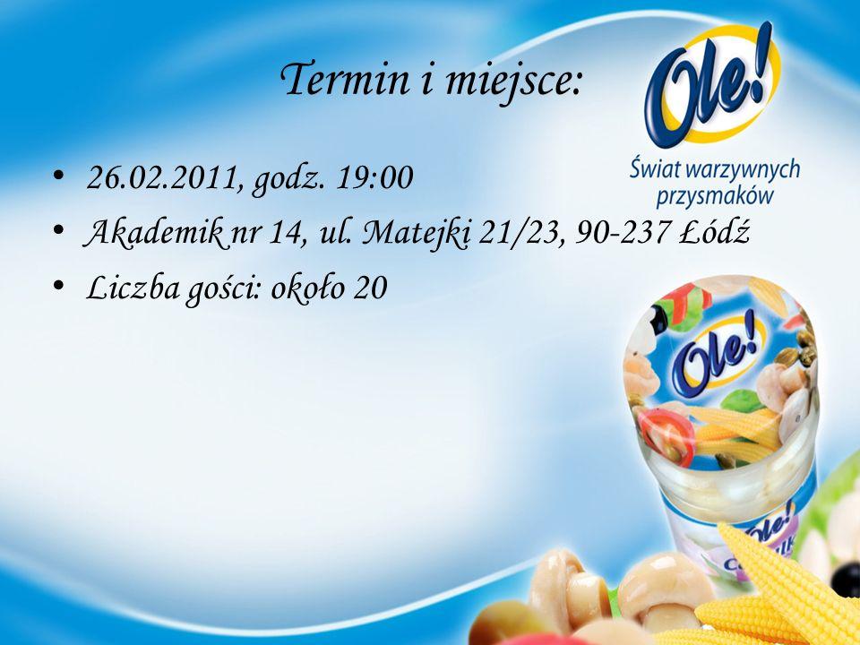 Termin i miejsce: 26.02.2011, godz. 19:00