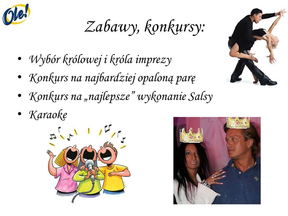 Zabawy, konkursy: Wybór królowej i króla imprezy