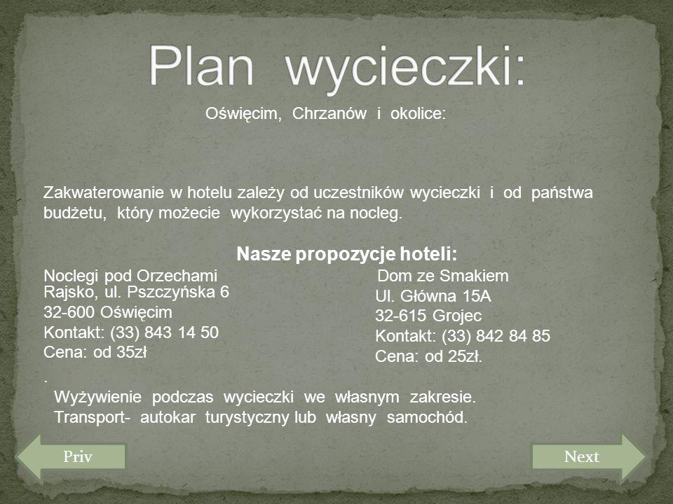 Nasze propozycje hoteli: