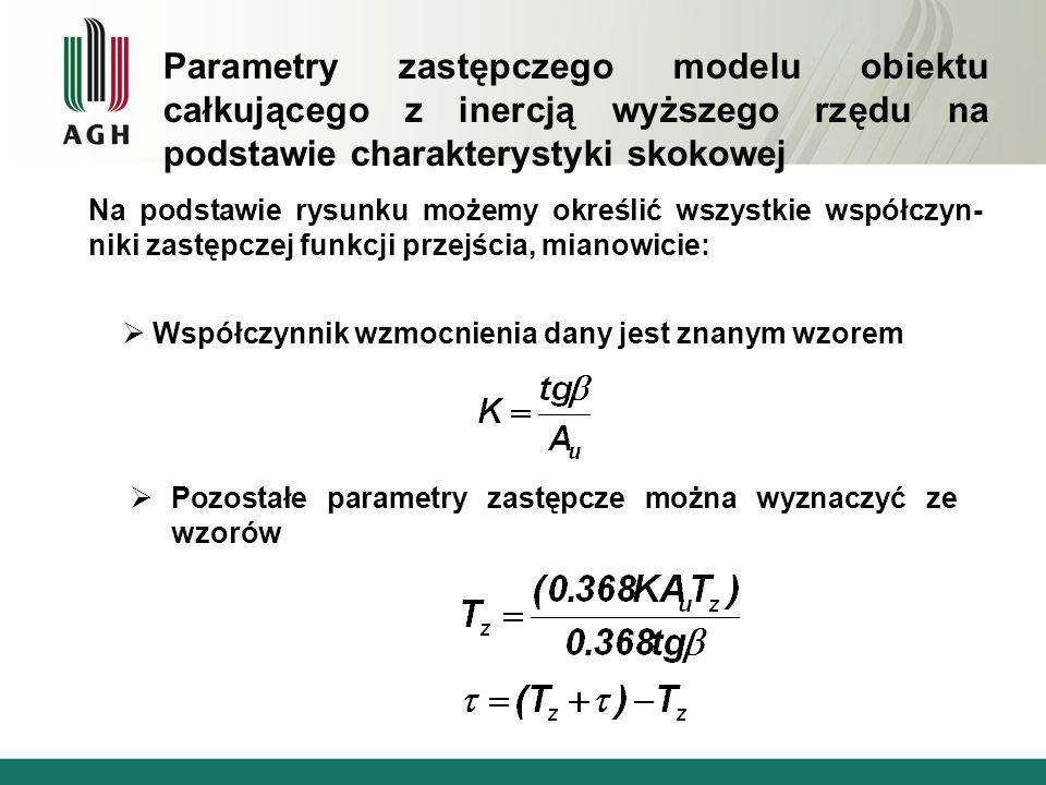 Parametry zastępczego modelu obiektu całkującego z inercją wyższego rzędu na podstawie charakterystyki skokowej