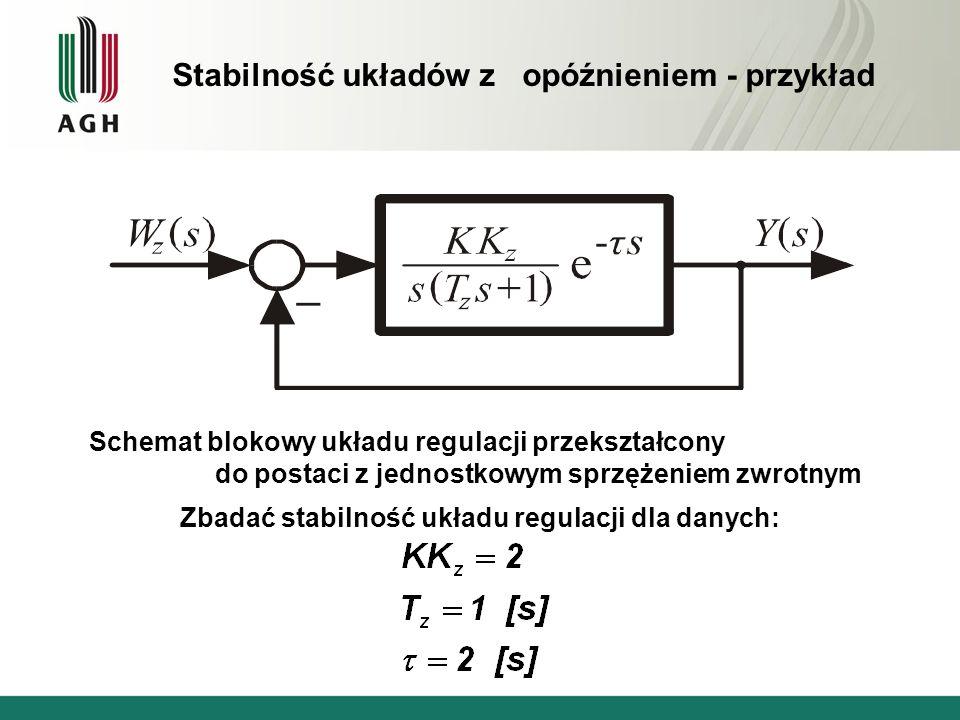 Stabilność układów z opóźnieniem - przykład
