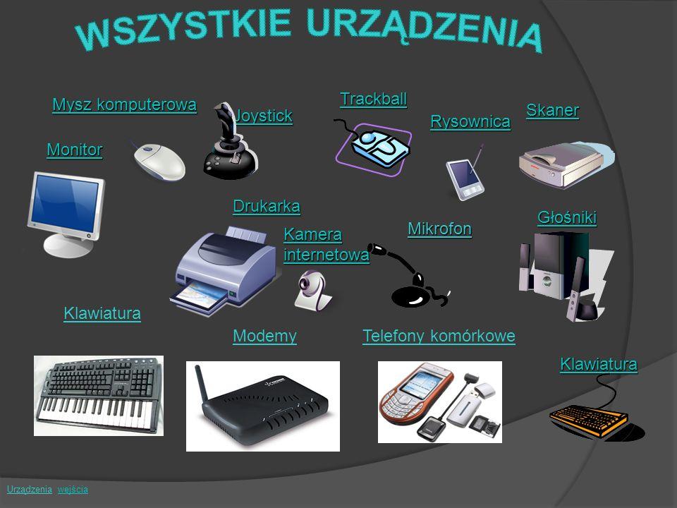 WSZYSTKIE URZĄDZENIA Trackball Mysz komputerowa Skaner Joystick