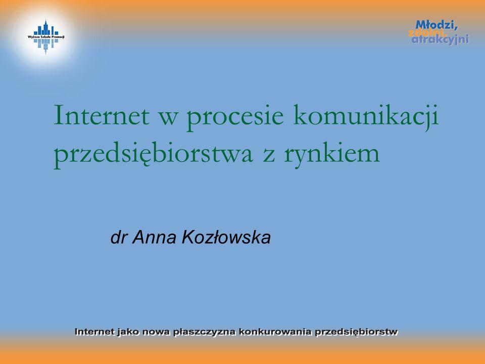 Internet w procesie komunikacji przedsiębiorstwa z rynkiem