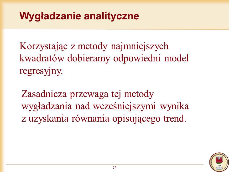 Wygładzanie analityczne