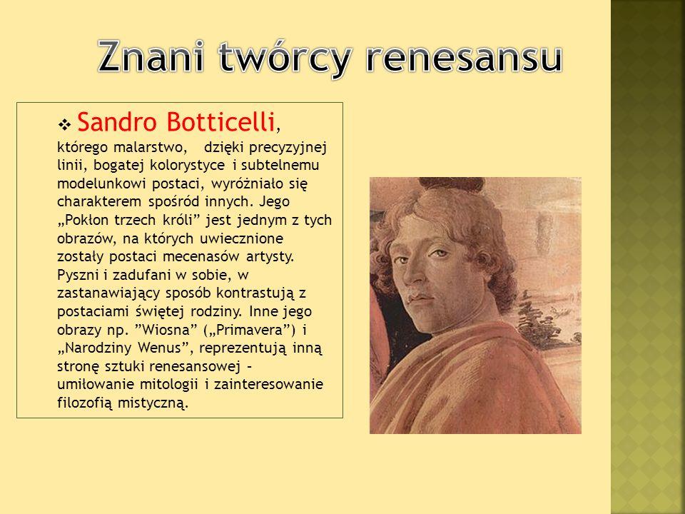 Znani twórcy renesansu