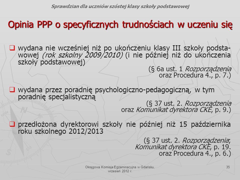 Opinia PPP o specyficznych trudnościach w uczeniu się
