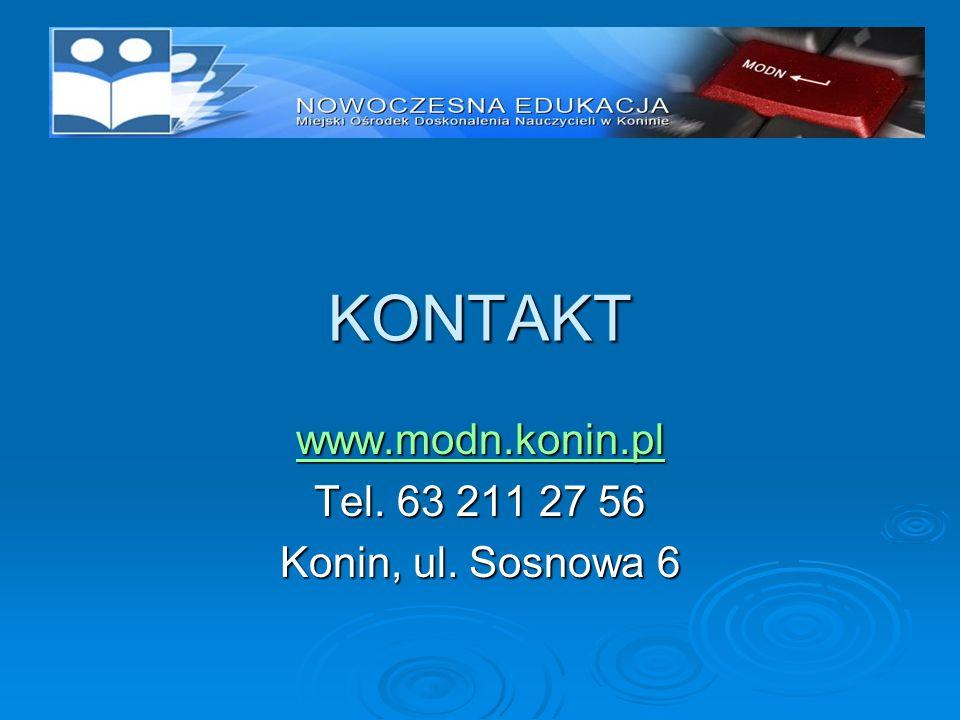 www.modn.konin.pl Tel. 63 211 27 56 Konin, ul. Sosnowa 6