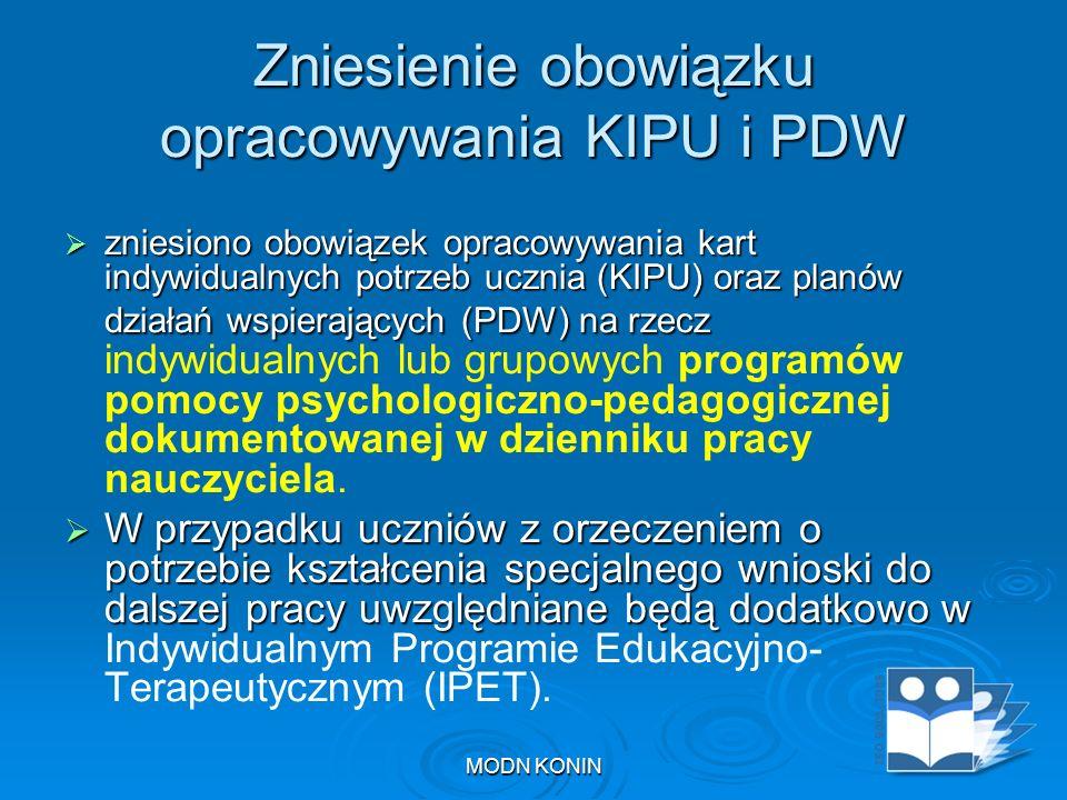 Zniesienie obowiązku opracowywania KIPU i PDW