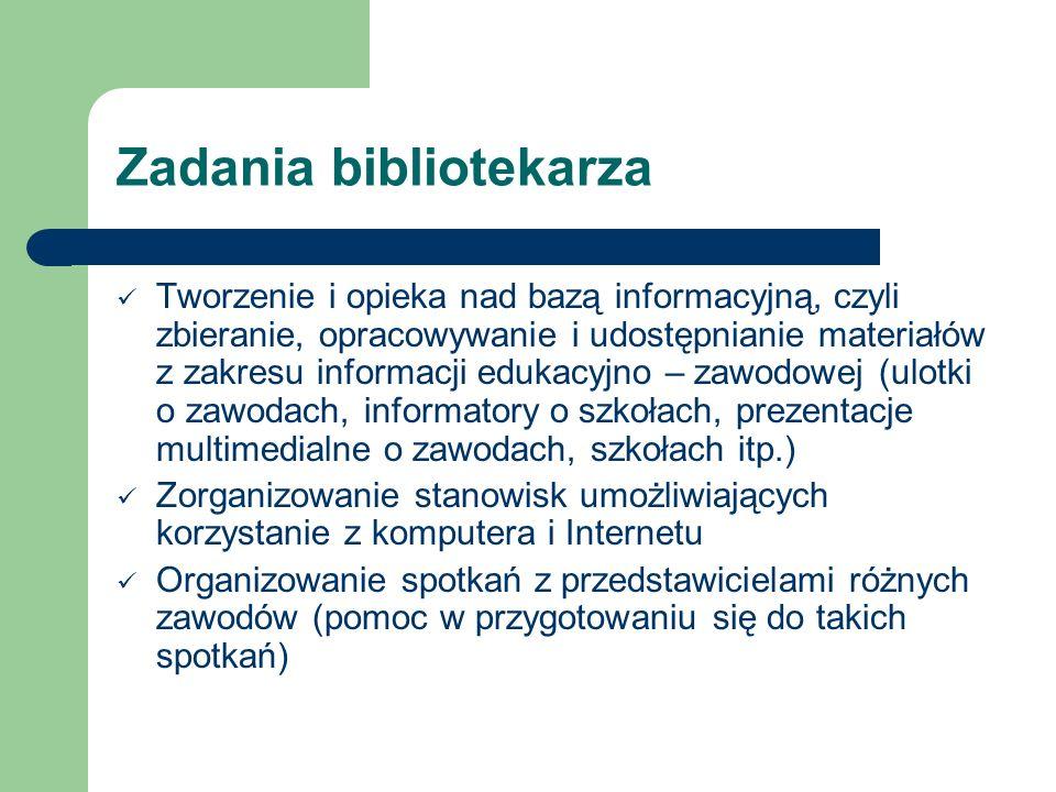 Zadania bibliotekarza