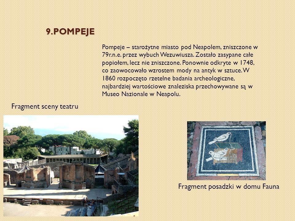 9.pompeje Fragment sceny teatru Fragment posadzki w domu Fauna