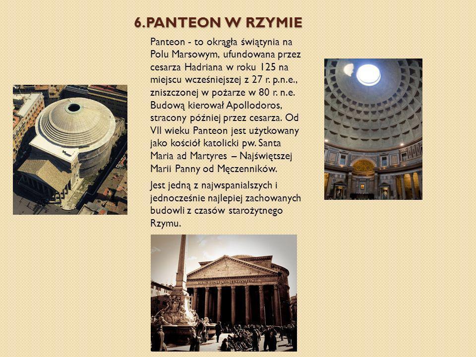 6.Panteon w rzymie