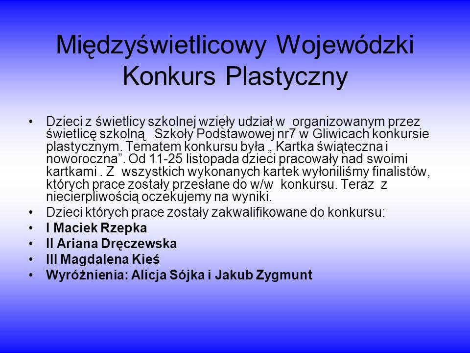 Międzyświetlicowy Wojewódzki Konkurs Plastyczny