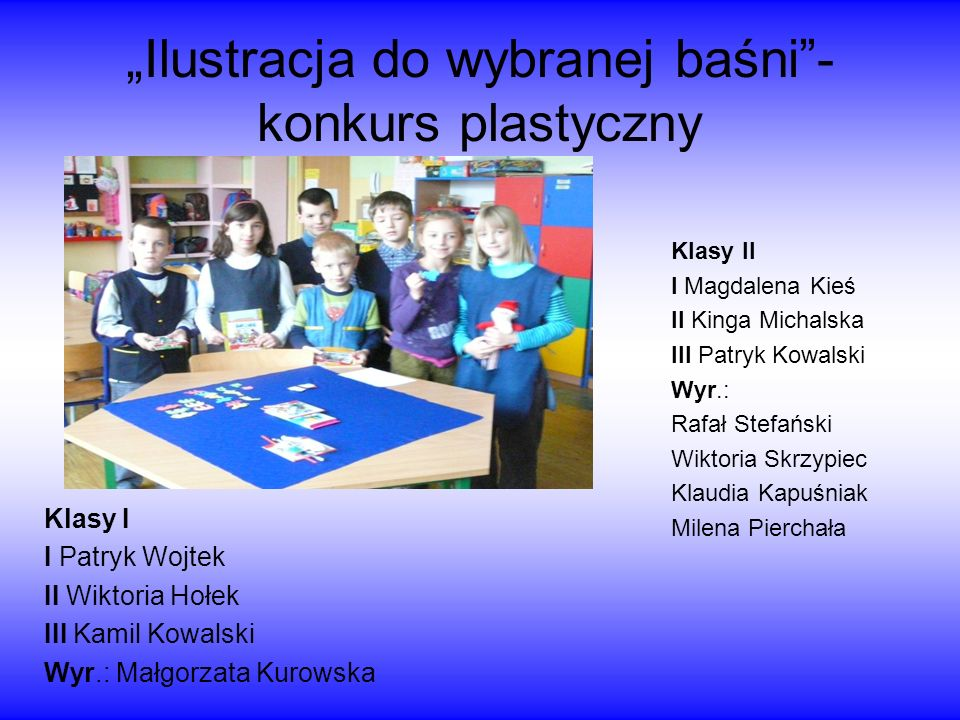 """""""Ilustracja do wybranej baśni - konkurs plastyczny"""