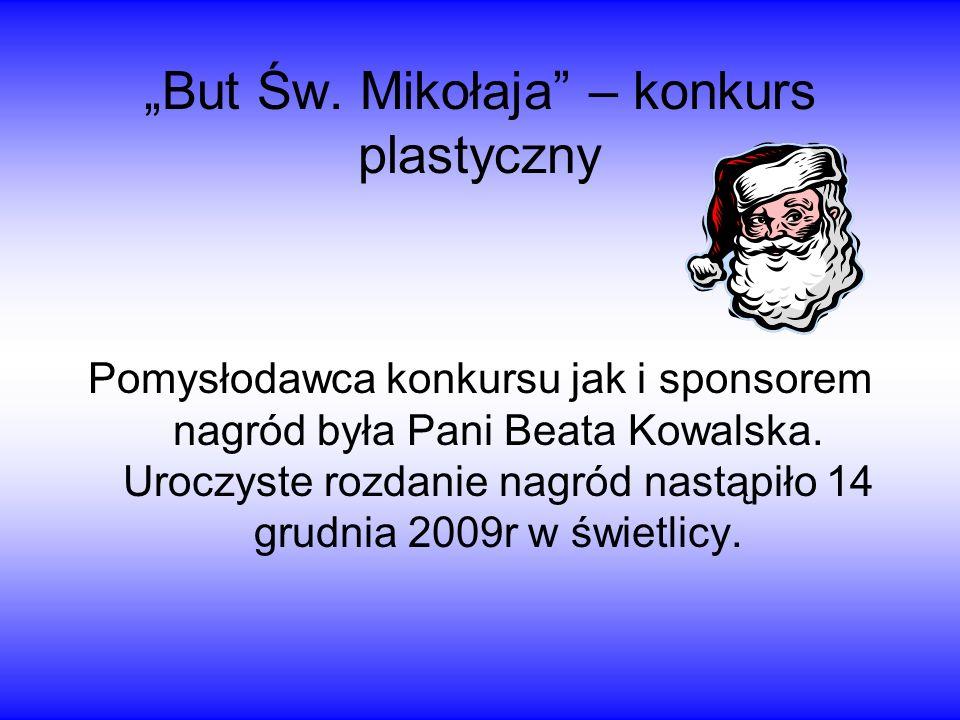 """""""But Św. Mikołaja – konkurs plastyczny"""