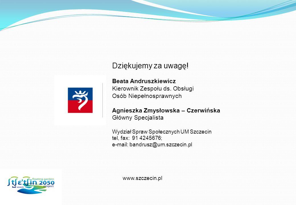 Dziękujemy za uwagę! Beata Andruszkiewicz
