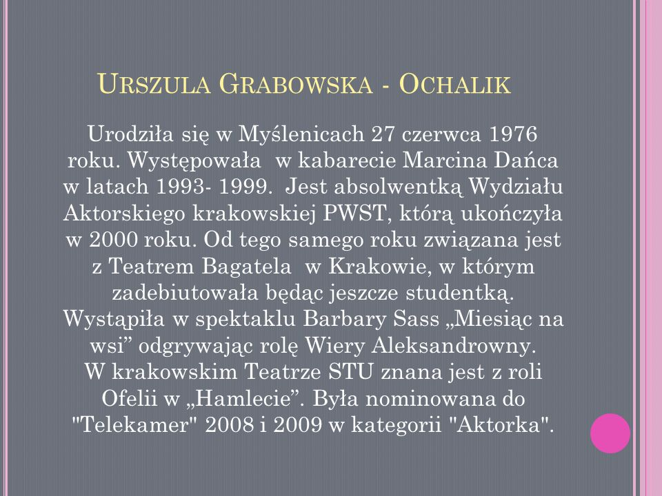 Urszula Grabowska - Ochalik