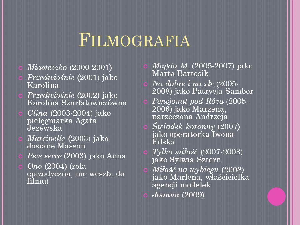 Filmografia Miasteczko (2000-2001)