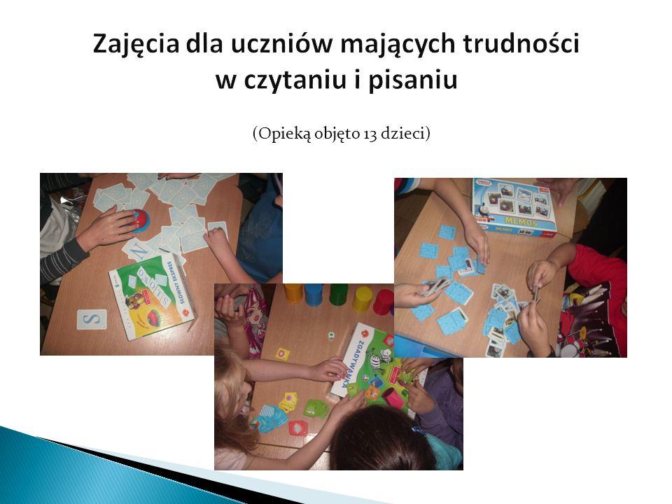 Zajęcia dla uczniów mających trudności w czytaniu i pisaniu