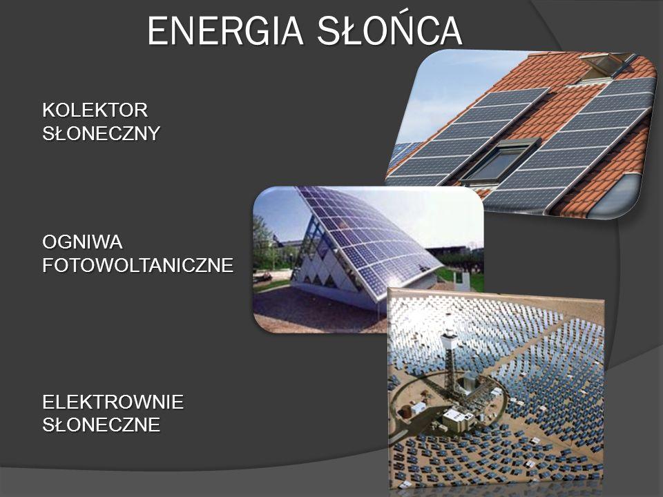 ENERGIA SŁOŃCA KOLEKTOR SŁONECZNY OGNIWA FOTOWOLTANICZNE ELEKTROWNIE SŁONECZNE