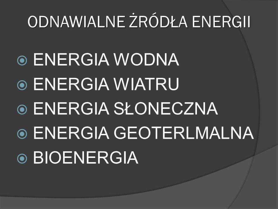 ODNAWIALNE ŻRÓDŁA ENERGII
