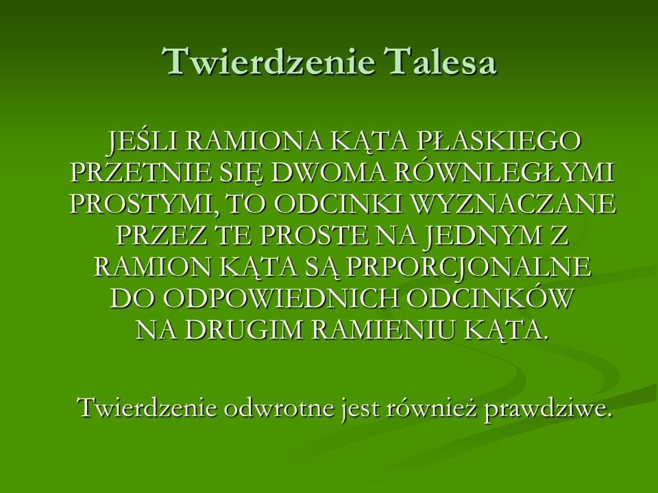 Twierdzenie Talesa