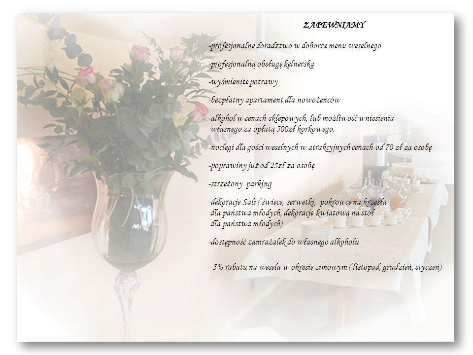 profesjonalne doradztwo w doborze menu weselnego
