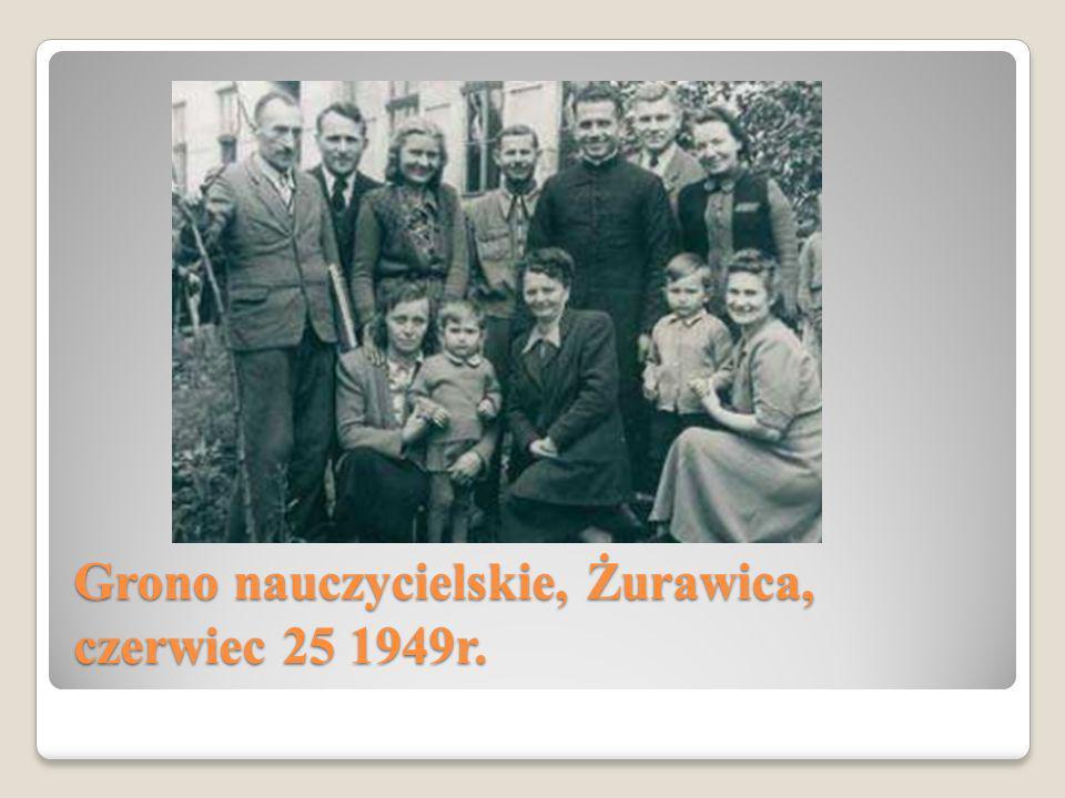 Grono nauczycielskie, Żurawica, czerwiec 25 1949r.