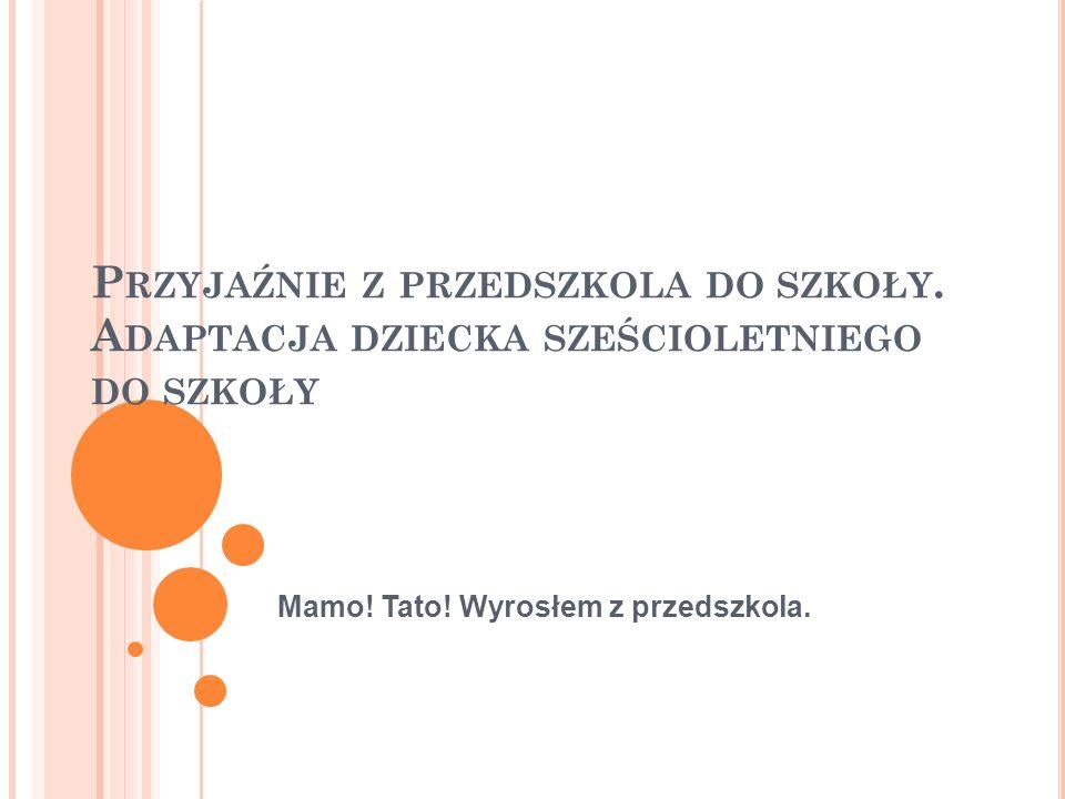 Projekt Mamo! Tato! Wyrosłem z przedszkola realizowany jest w ramach zadania publicznego pn. Realizacja szkolnych projektów promujących przyjazną adaptację dzieci w edukacji szkolnej za środków Ministerstwa Edukacji Narodowej