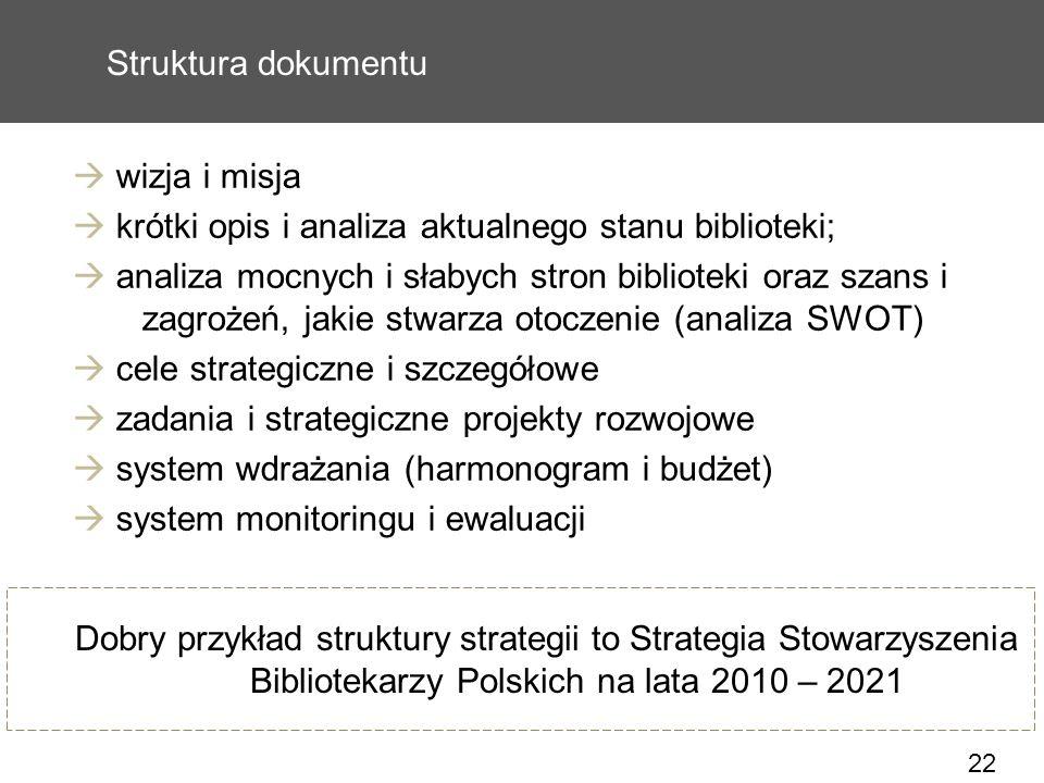  krótki opis i analiza aktualnego stanu biblioteki;