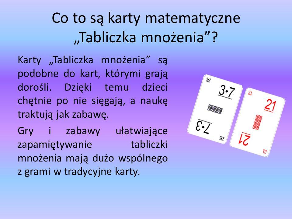 """Co to są karty matematyczne """"Tabliczka mnożenia"""
