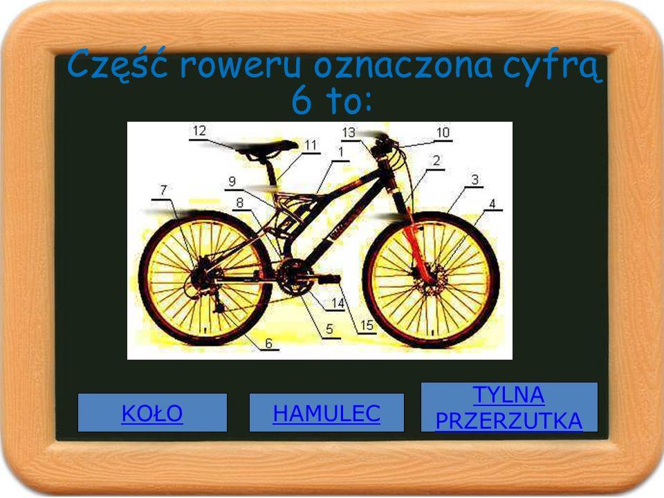 Część roweru oznaczona cyfrą 6 to: