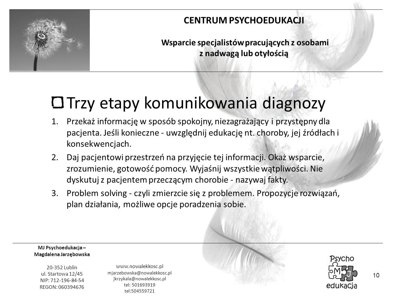 Trzy etapy komunikowania diagnozy