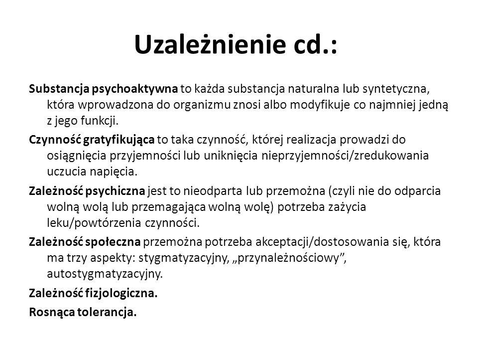 Uzależnienie cd.: