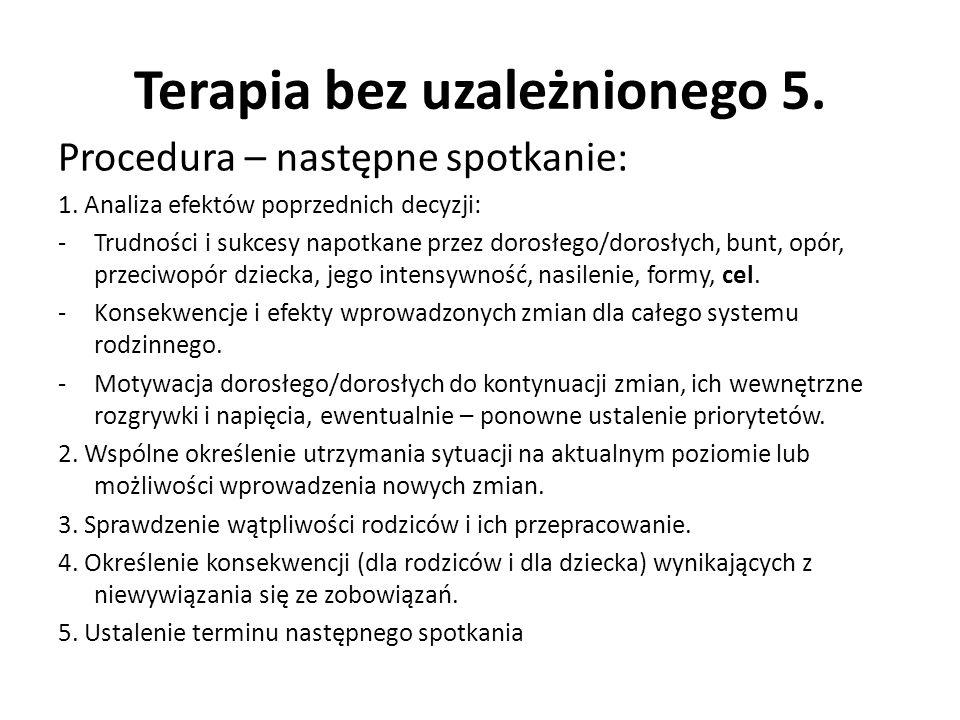 Terapia bez uzależnionego 5.