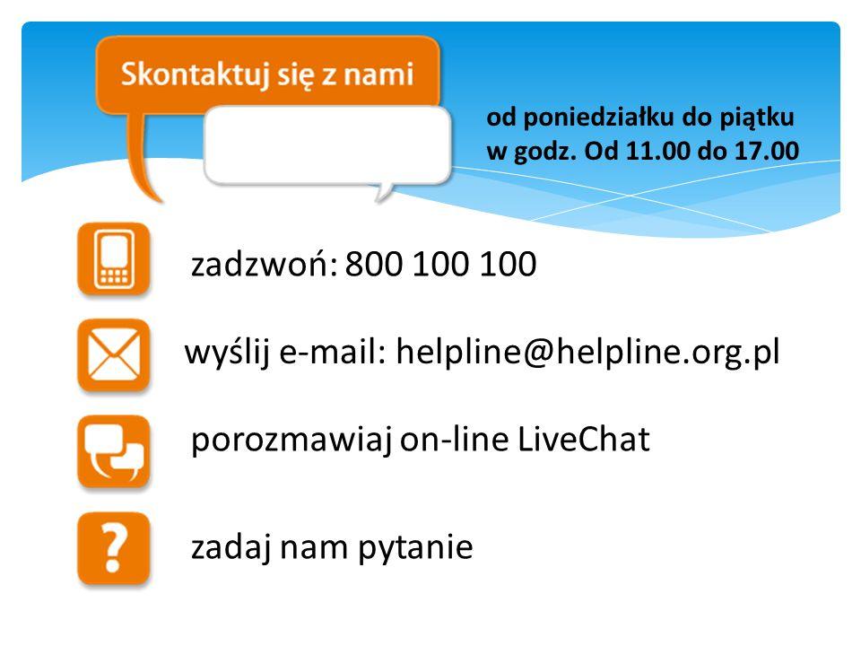 wyślij e-mail: helpline@helpline.org.pl