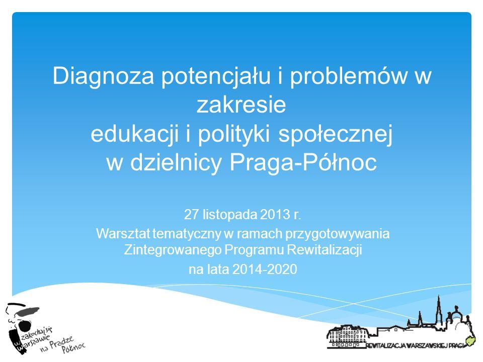 Diagnoza potencjału i problemów w zakresie edukacji i polityki społecznej w dzielnicy Praga-Północ