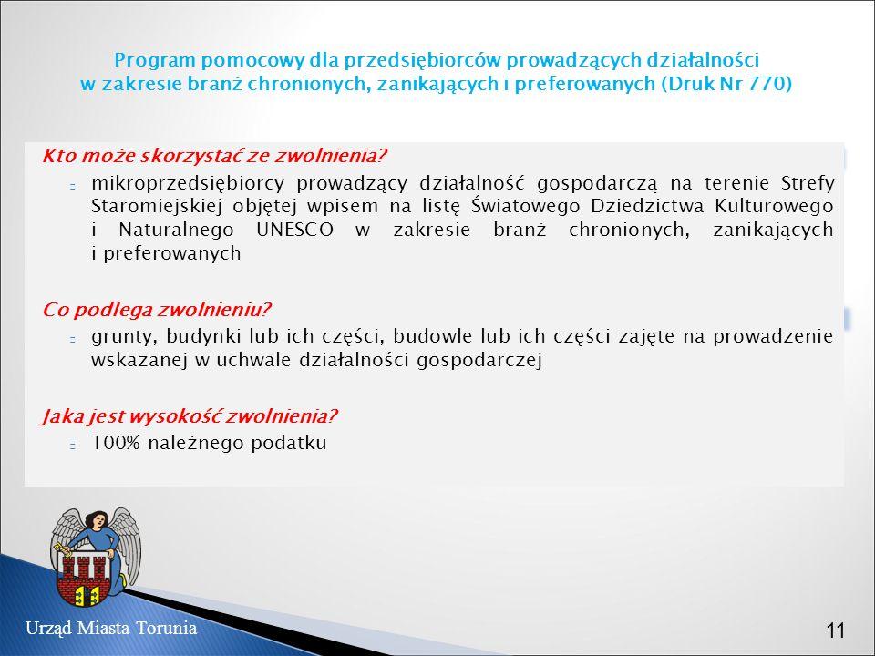 Program pomocowy dla przedsiębiorców prowadzących działalności w zakresie branż chronionych, zanikających i preferowanych (Druk Nr 770)