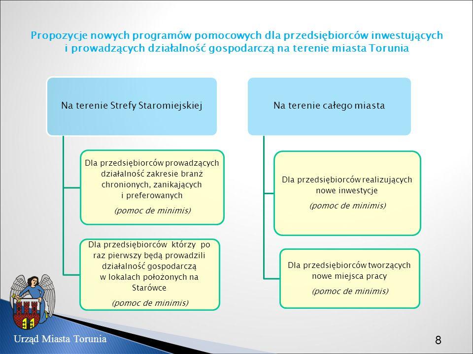 Propozycje nowych programów pomocowych dla przedsiębiorców inwestujących i prowadzących działalność gospodarczą na terenie miasta Torunia